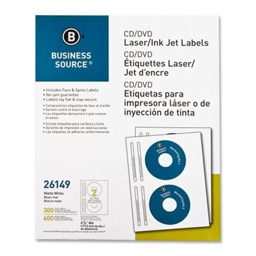 Picture of White CD/DVD Labels Pk.300 Laser-InkJet