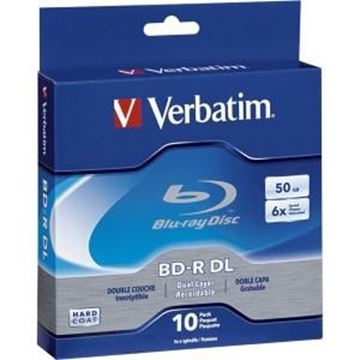 Picture of Verbatim BD-R DL 50GB 6X 10pk Spindle Box