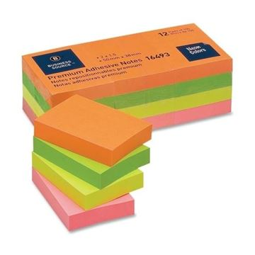 Picture of Pads 1.5x2 Neon Colours Adhesive Notes 12/Pk