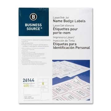 Picture of Label Laser/InkJet White Badges 2.33x3.38 400/Pk