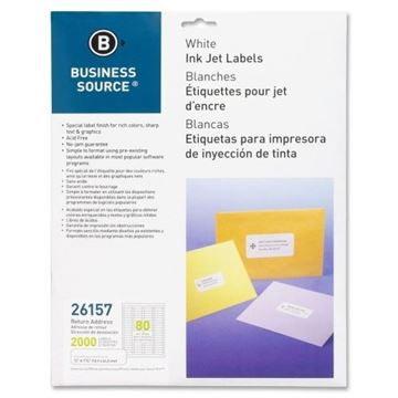 Picture of Labels .5x1.75 White InkJet Return Address 2000/Pk