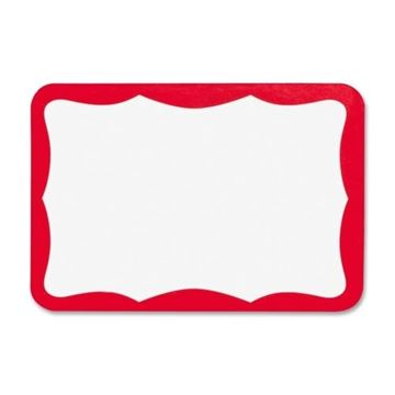 Picture of Label Self Adhesive Red Badges 3.5x2.25 100/Pk