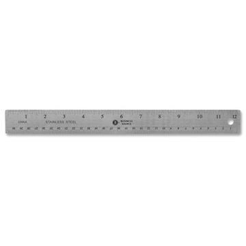 "Picture of Ruler Non-Skid Stainless Steel Ruler 12"" Length"