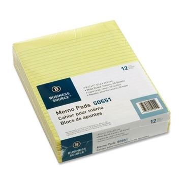Picture of Memo Pads 8.5x11 Canary Ruled 50shts per pad Pk.12