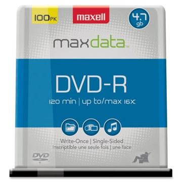 Picture of Maxell DVDR 4.7GB 16X Spindle of 100