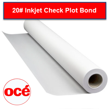 "Picture of Bond Paper Roll 20lb 24""x300' 2"" Core. Carton of 3."